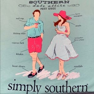 Simply Southern Large Southern Date Attire T-shirt